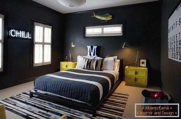 15 bellissime camere da letto in nero