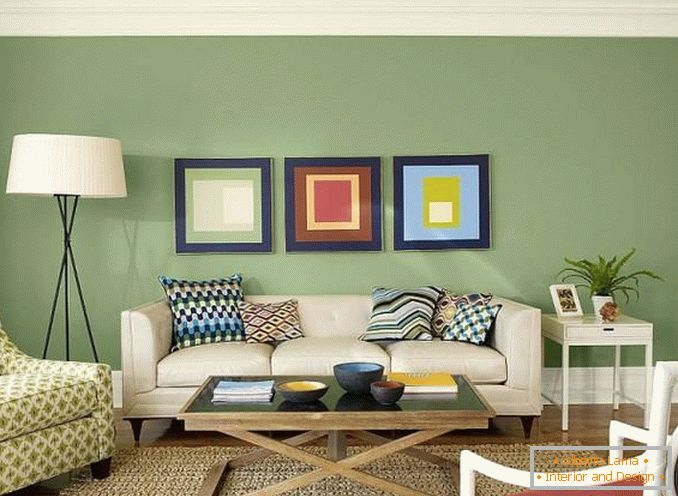 Salotto Moderno Verde : Ispiranti salotti in verde