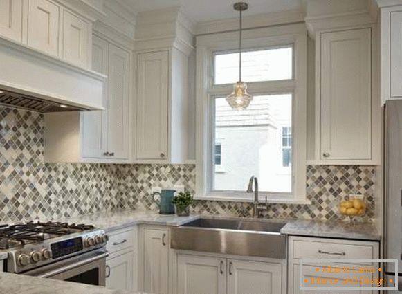 Cucina bianca all\'interno - 35 foto con idee di bel design