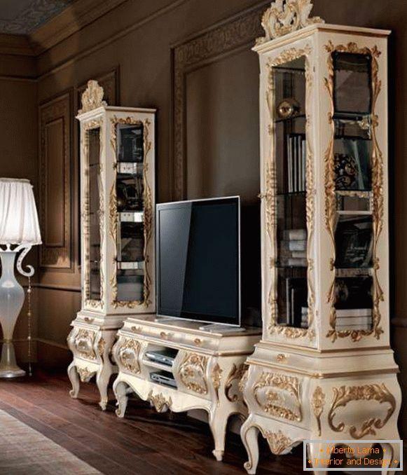 Mobili Bianchi Classici.Mobili Da Soggiorno Bianchi 35 Foto In Interior Design