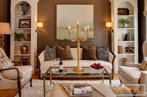 Mobili da soggiorno bianchi - 35 foto in interior design