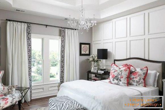 Camera da letto bianca - il fascino magico dei classici