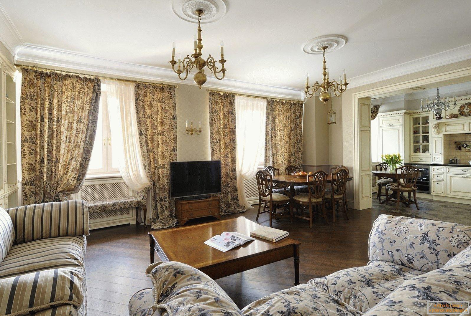 Progettazione di un soggiorno con due finestre - 25 foto