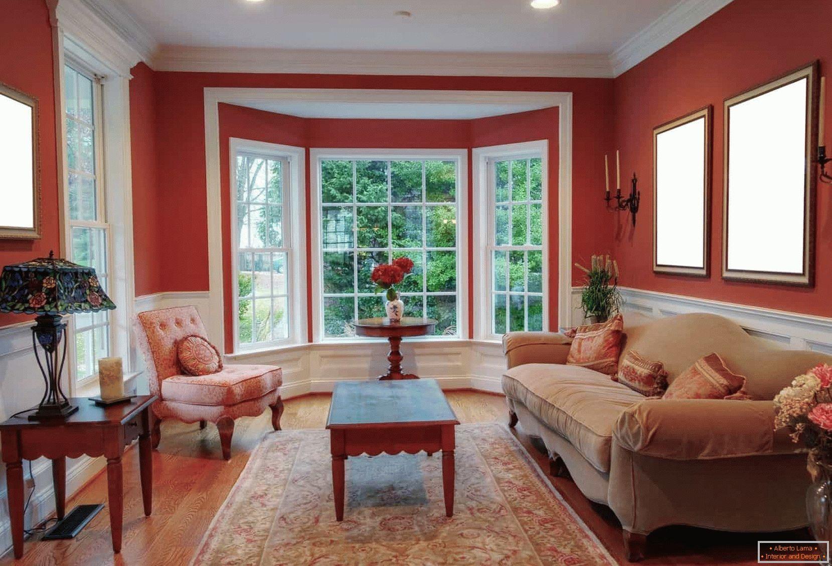 Progettazione di un soggiorno con una vetrata esempi di