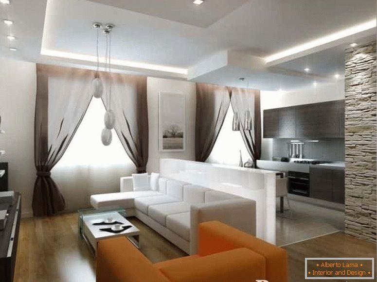 Design cucina-soggiorno 25 mq - idee e soluzioni