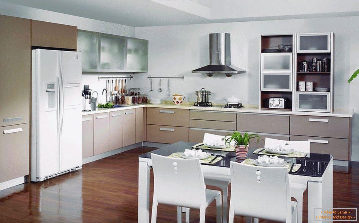 Cucina-pranzo-soggiorno design in una casa privata