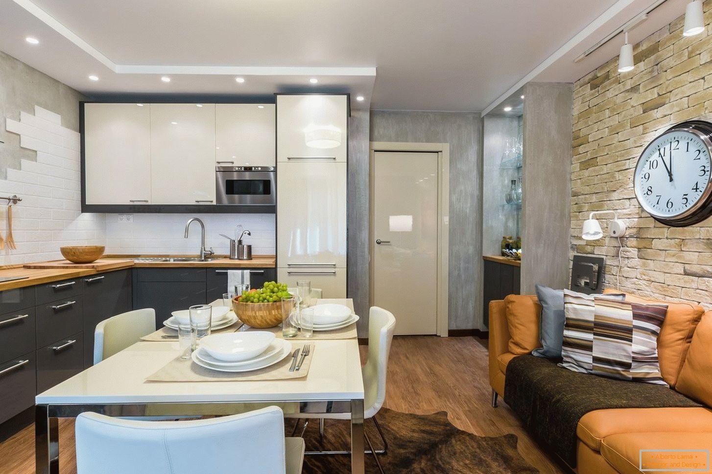 Cucina di design 16 mq + 60 esempi di foto degli interni