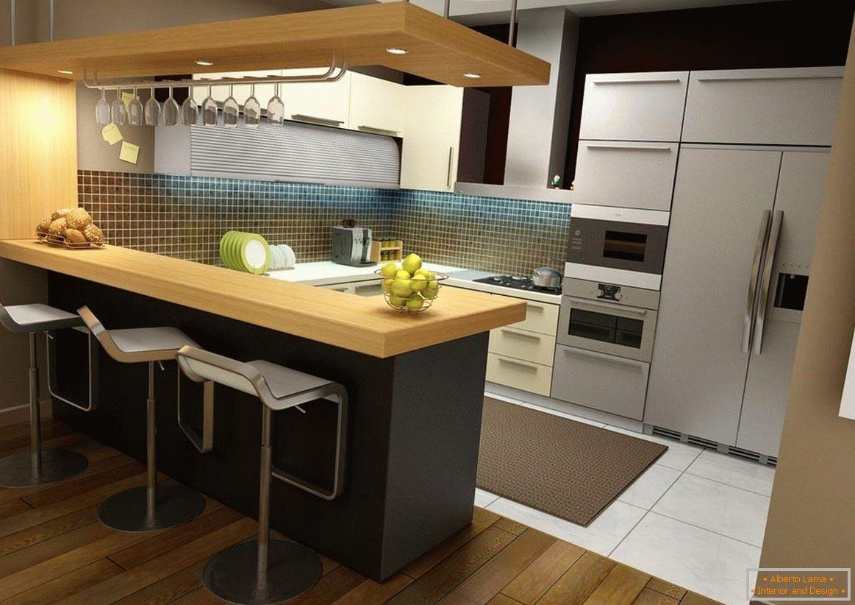 Design della cucina con bancone da bar - 80 foto di idee