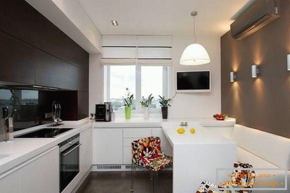 Progettazione di una piccola cucina da 6 a 10 mq m (foto