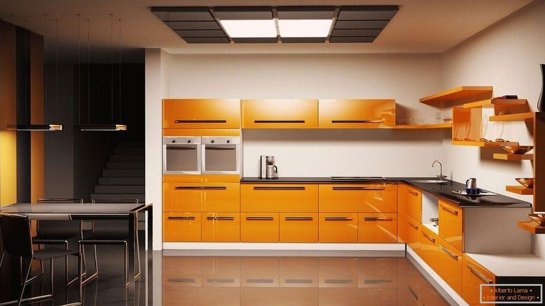 Mobili Da Cucina Arancione.Design Della Cucina Arancione 75 Esempi Di Foto