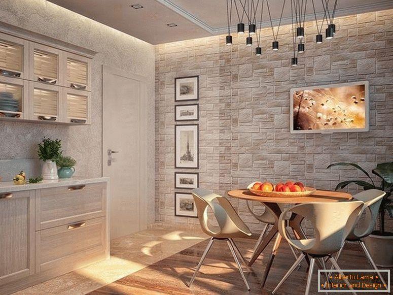 Disegni le piastrelle nella cucina disegno della foto