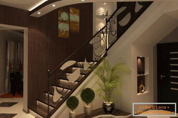 Design Del Corridoio In Una Casa Privata Idee Fotografiche