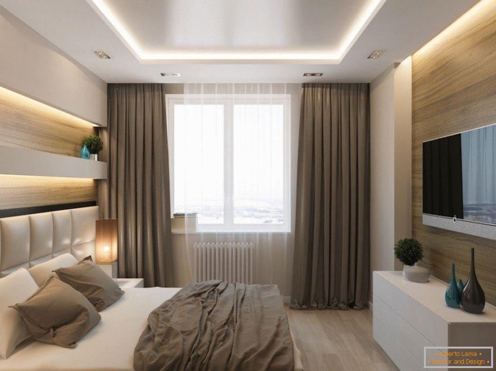 Camera da letto di design 10 mq m - interni per una piccola