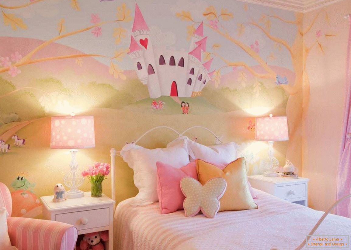Design di una camera da letto per una ragazza: idee per