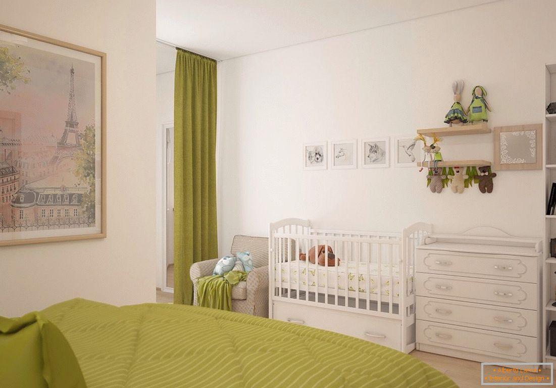 Progettazione di una camera da letto con una culla +50 foto