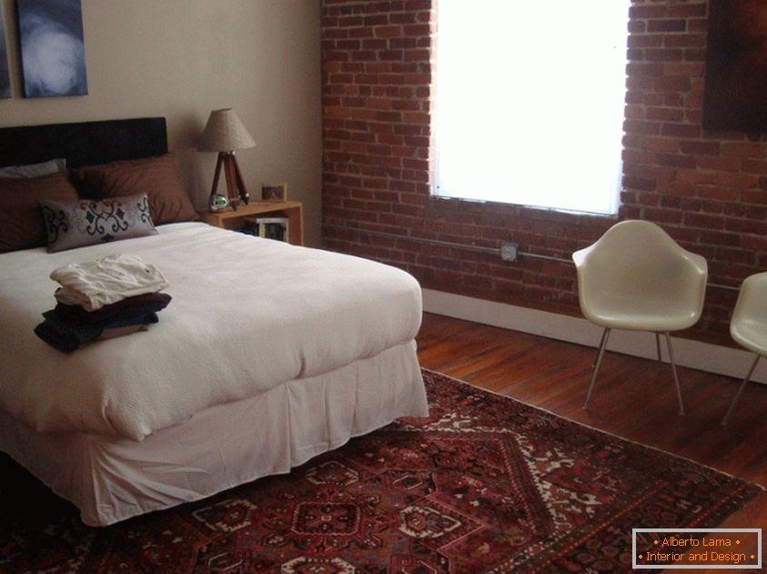 Camera da letto di design in stile orientale, come una fiaba