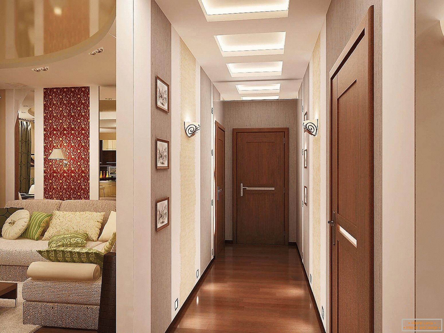 Progettazione di un corridoio stretto e lungo