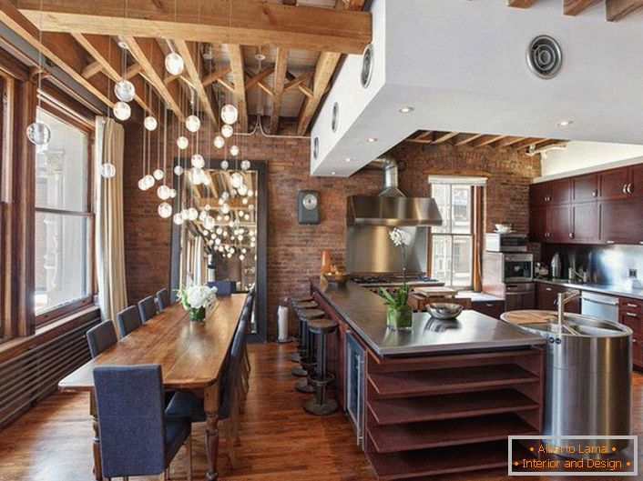 Cucina spettacolare in stile loft idee originali