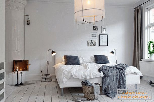 camera da letto di design in stile scandinavo
