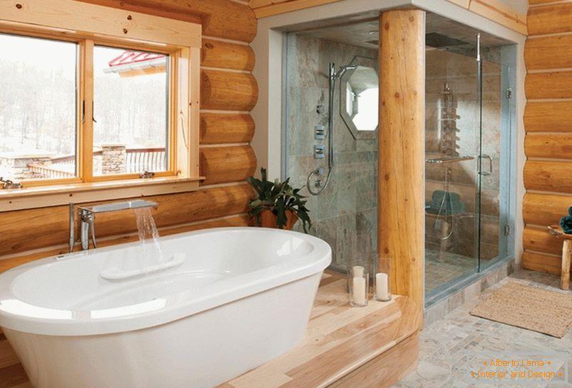 Bagni Per Case Di Campagna : Interno di un bagno in una casa di campagna