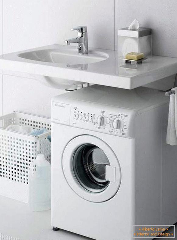 Lavatrice Sotto Lavandino Bagno.Interessante Design Del Bagno Con Lavatrice