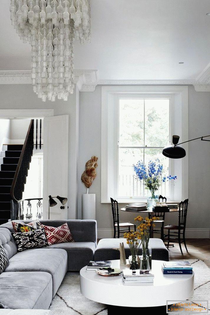 Come progettare correttamente un piccolo soggiorno - una
