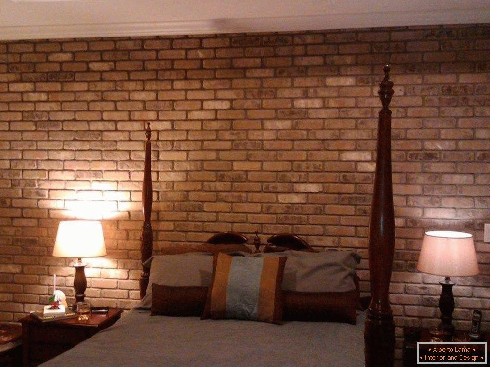 Muro di mattoni all\'interno - idee per l\'uso