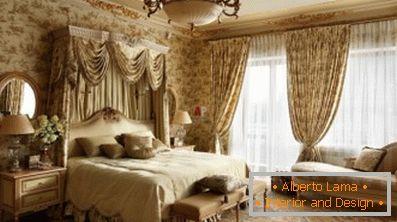 Camera da letto classica in stile inglese (59 interni