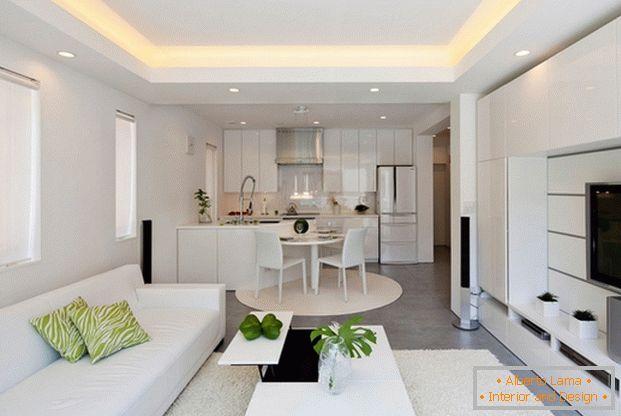 Cucina-soggiorno in stile moderno - 5 progetti di design con