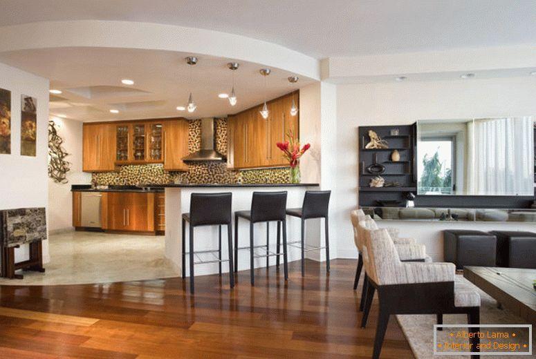 Cucina combinata con soggiorno - 75 foto design