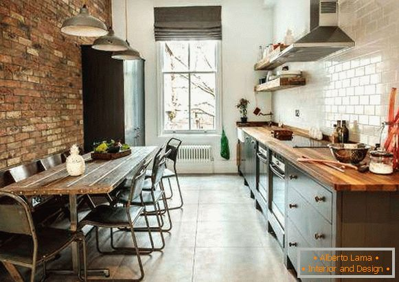 Cucina in stile loft foto con idee di interior design