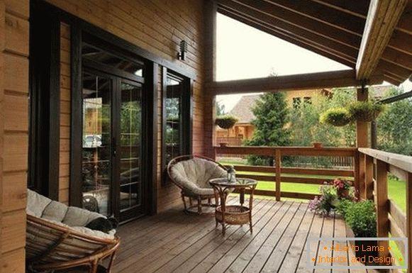 Cucina estiva con veranda - varietà e consigli sulla