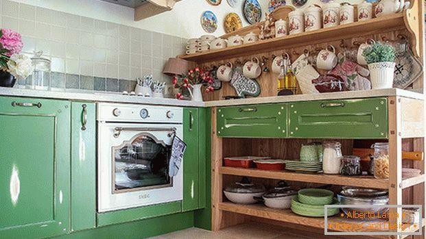 Piccola cucina in stile provenzale - chic francese su 40