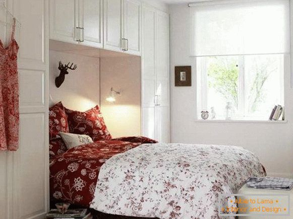 Piccola camera da letto: amplia lo spazio, utilizzando 40