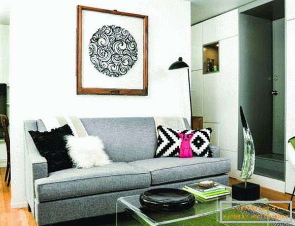 Un piccolo divano in cucina con un letto - 57 soluzioni di