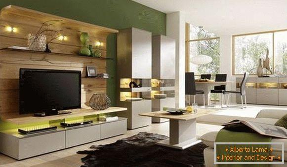 Mobili modulari per il salotto - tendenze nel design per 32