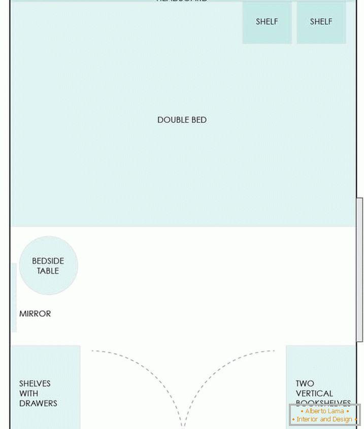 Disposizione di una piccola camera da letto: una raccolta di