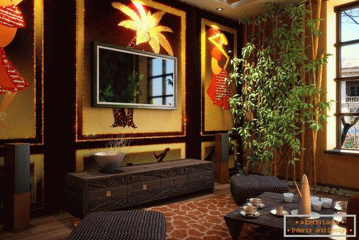 Design di soggiorni in stile etnico. (69 idee per interni)