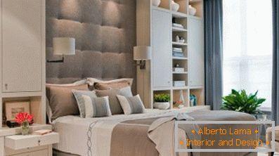 Design della camera da letto originale e pratico in stile
