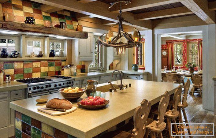 Caratteristiche del design della cucina nello stile dello