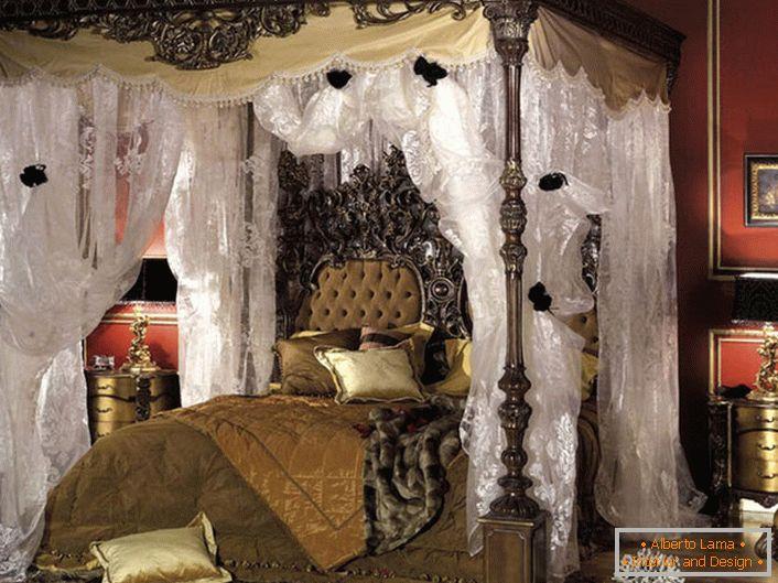Caratteristiche della camera da letto in stile barocco (55