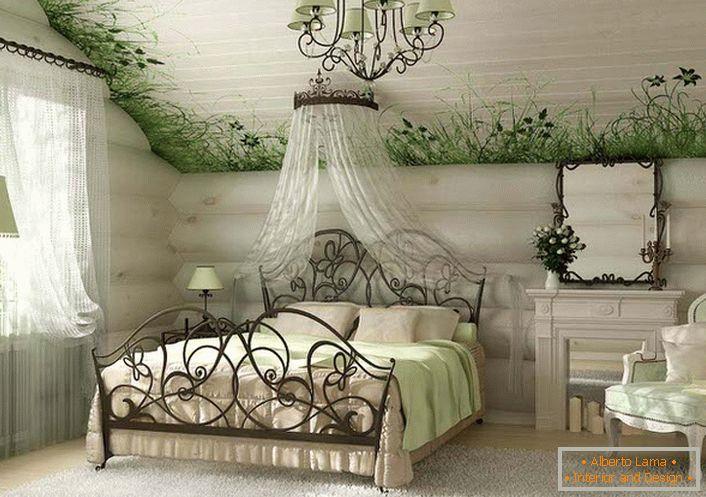 Semplicità ed eleganza della camera da letto in stile