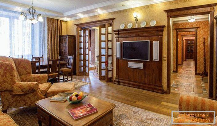 Eleganza moderata del soggiorno in stile inglese (60 idee