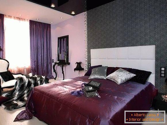 Camere Da Letto Viola : Lussuosa camera da letto nei toni del viola 30 foto di