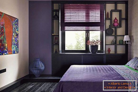 Pareti Viola E Lilla : Lussuosa camera da letto nei toni del viola foto di