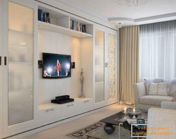 Gabinetto nel soggiorno - opzioni di design a 45 foto