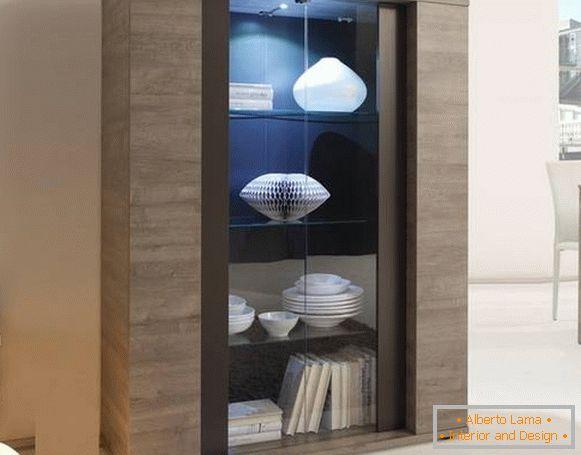 Vetrina nel design del soggiorno - per i tuoi migliori