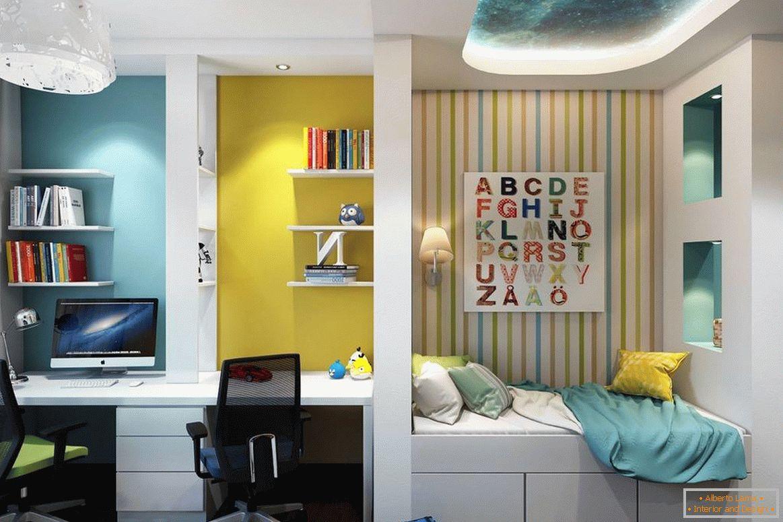 Idee moderne di interior design di una stanza per bambini