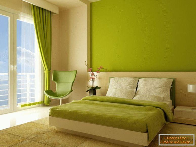 Camera da letto in due colori - esempi di foto come decorare