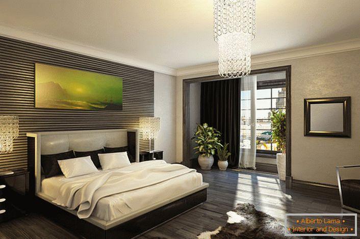 Camera da letto in un lussuoso stile art deco (64 idee